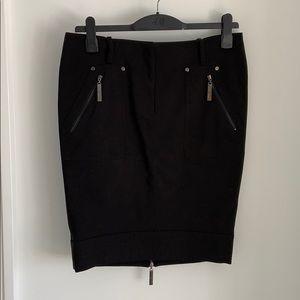 sandra angelozzi black knee length skirt 42